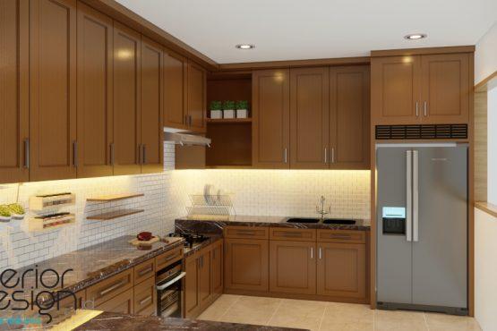 interior dapur gaya klasik modern