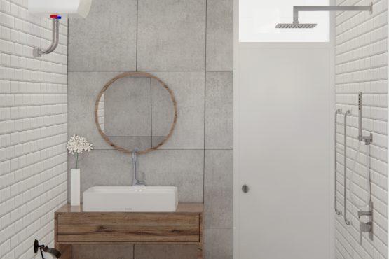 interior kamar mandi minimalis industrial