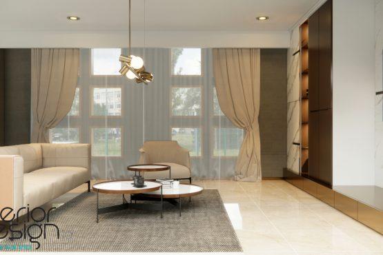 interior ruang keluarga gaya klasik modern