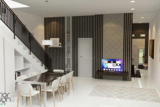 interior ruang makan minimalis modern