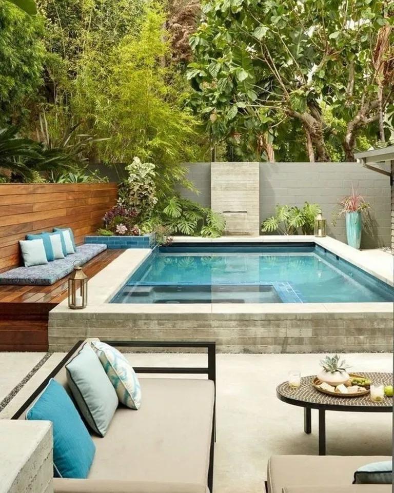kolam renang kecil minimalis