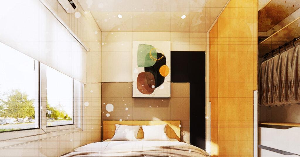 cara simple desain kamar tidur kecil