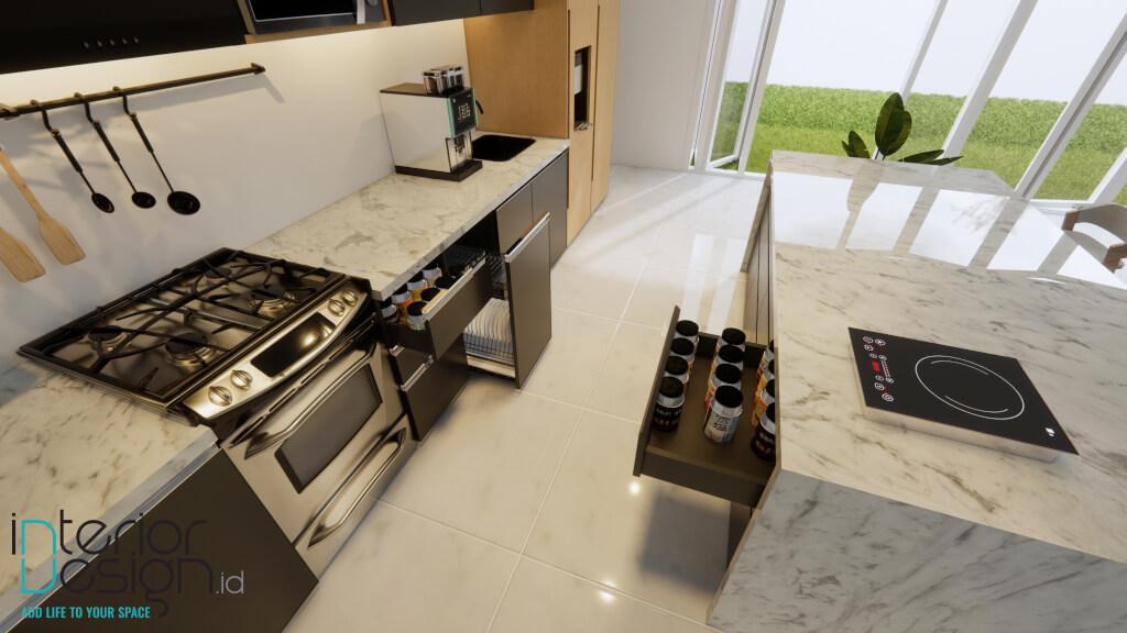dapur dengan solid surface