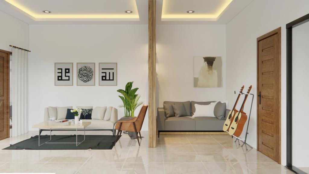 ruang tamu mewah modern minimalis
