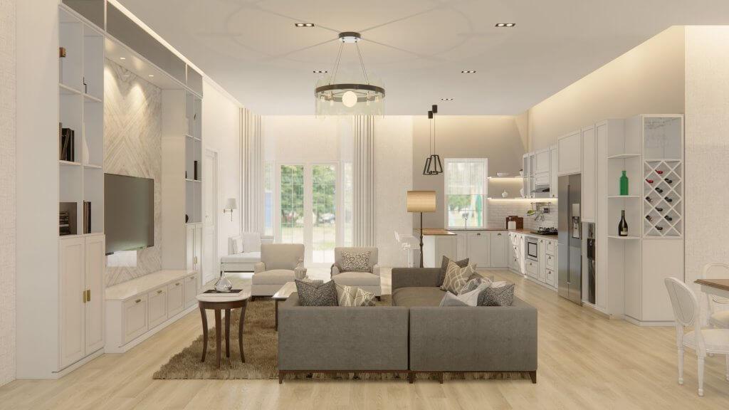 interior rumah gaya american classic