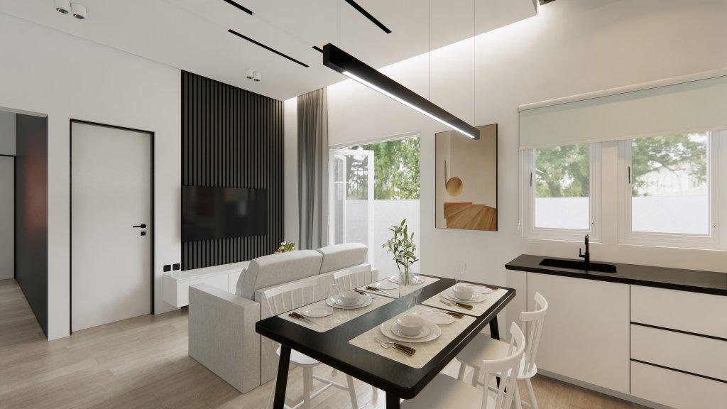 minimalis modern living dining kitchen