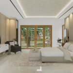 interior kamar tidur modern natural