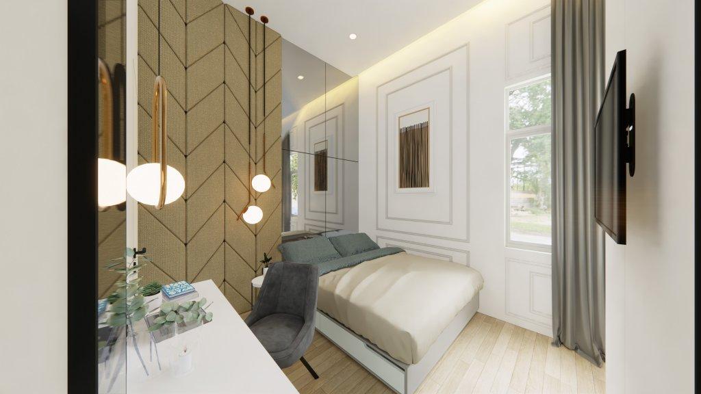 interior kamar tidur rumah type 36