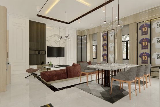 interior rumah klasik kontemporer
