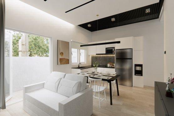 ruang keluarga ruang makan dapur
