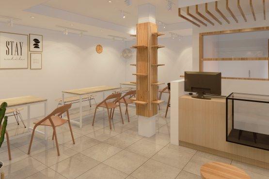 interior cafe minimalis