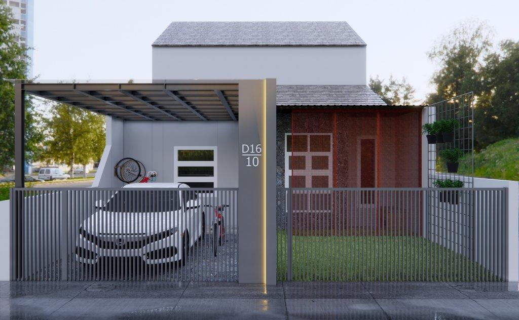 facade rumah type 36