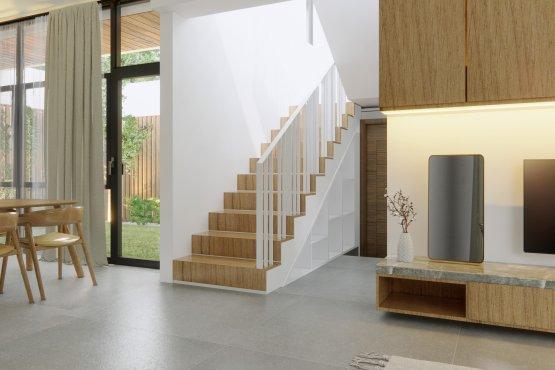 interiorruang keluarga area tangga