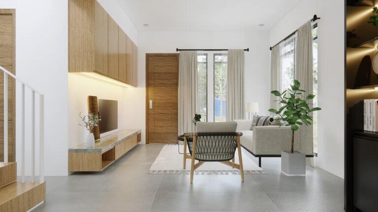 interior ruang tamu ruang keluarga