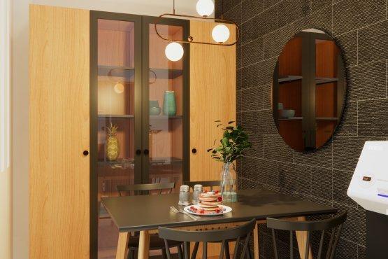 interior dapur ruang makan