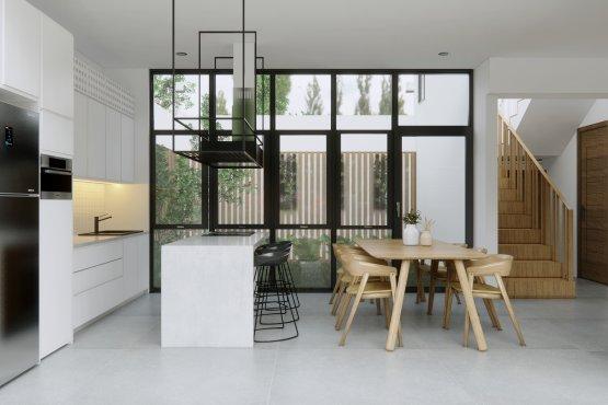 interior ruang makan dapur