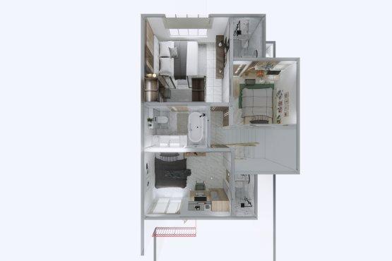 denah/layout interior