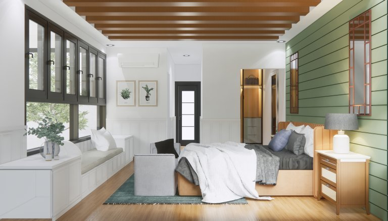 desain interior kamar farmhouse
