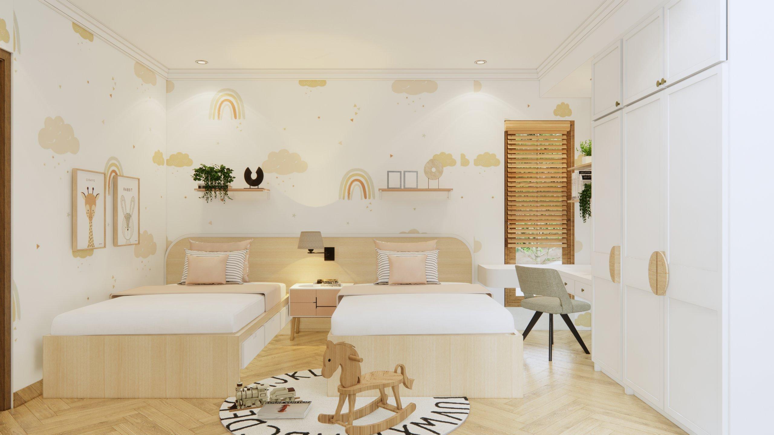 desain kamar anak farmhouse