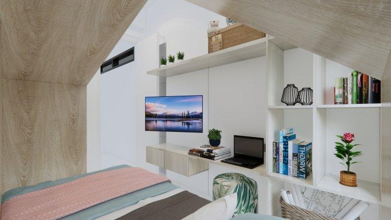 kamar anak minimalis scandinavian