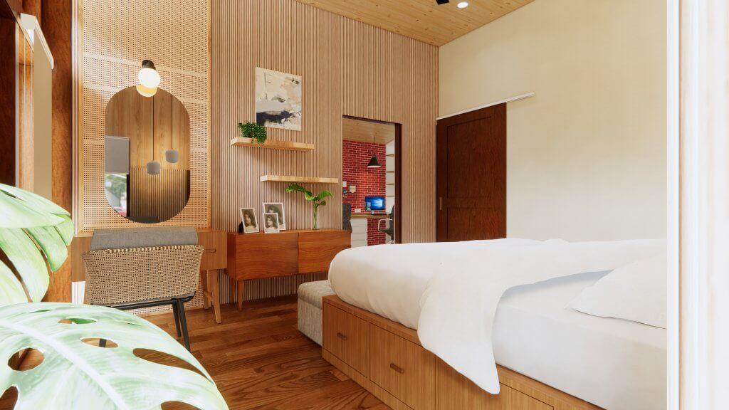 interior kamar tidur tradisional kontemporer