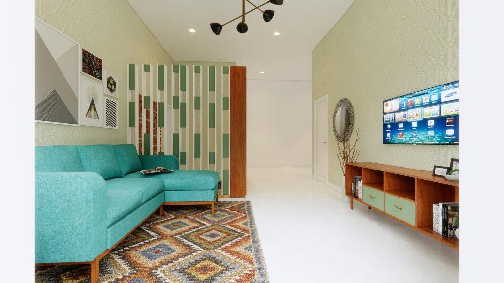 interior ruang keluarga jatibening bekasi