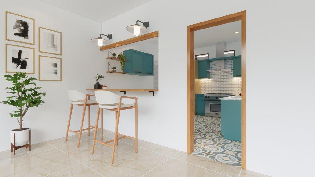 interior dapur modern tropikal kupang NTT