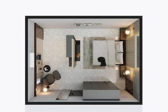 contemporary design interior for bedroom