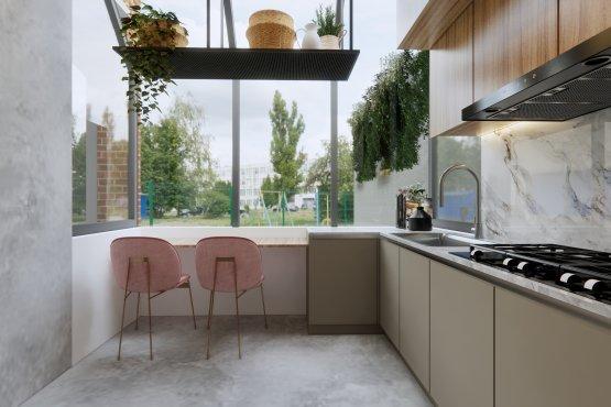 dapur di rumah modern minimalis