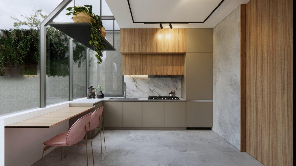 desain rumah gaya modern natural
