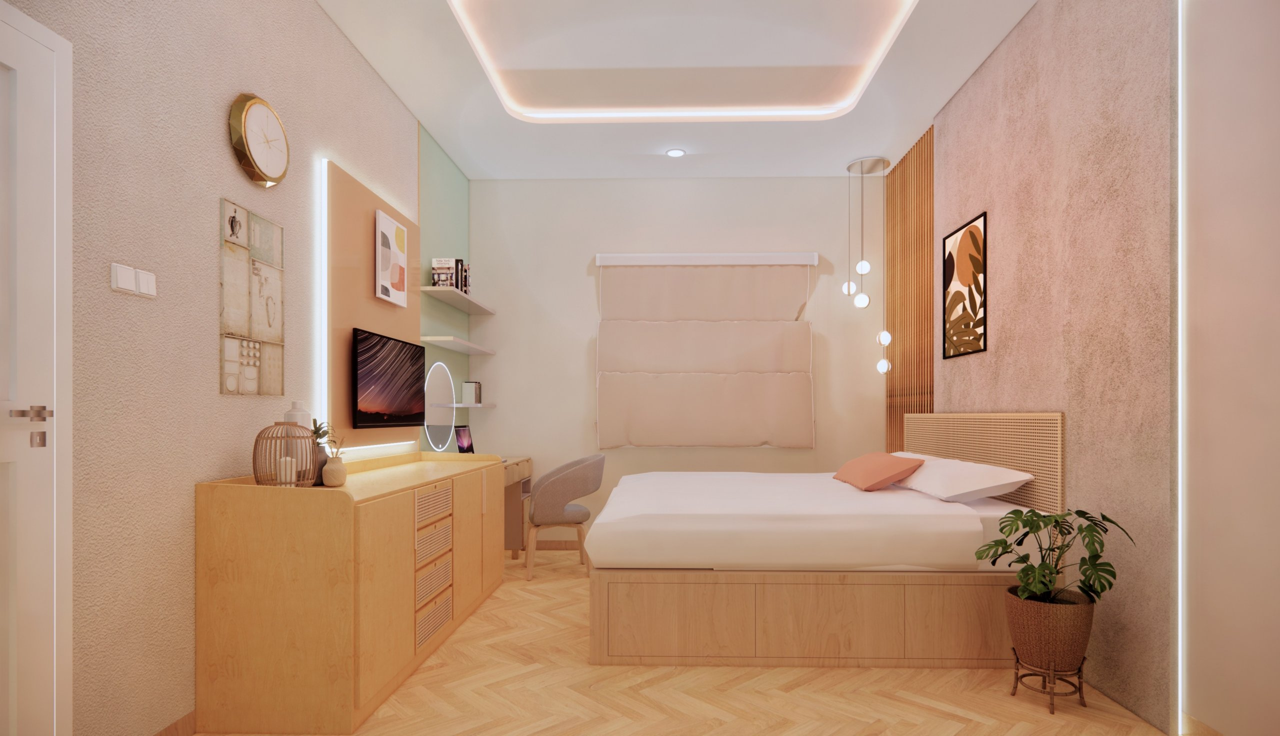 kamar tidur kontemporer