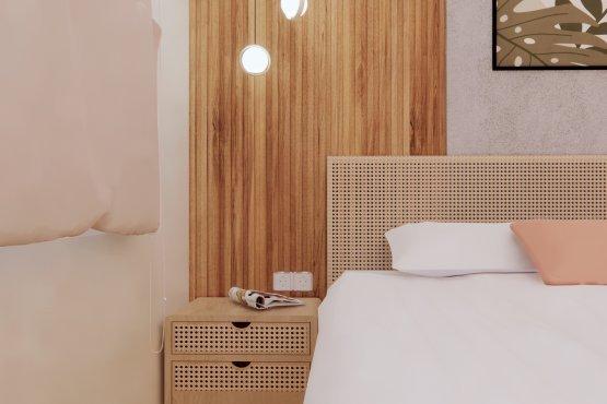 ruang tidur kontemporer