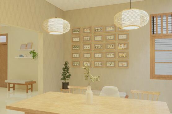 interior ruang makan scandinavian