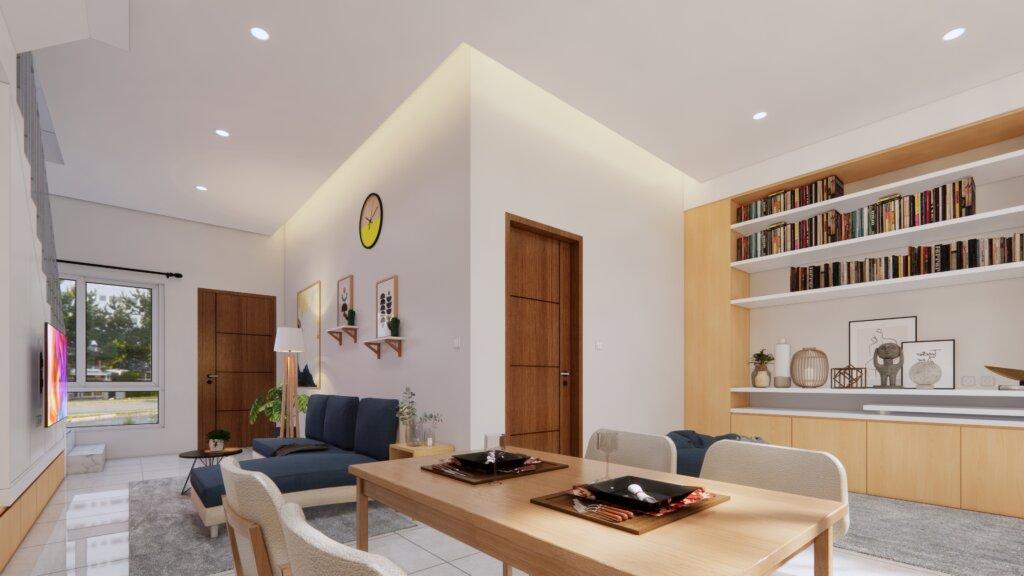interior dekorasi ruang keluarga minimalis