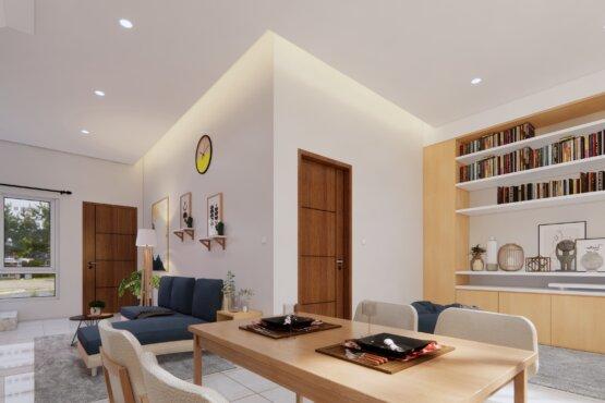 desain ruang baca minimalis