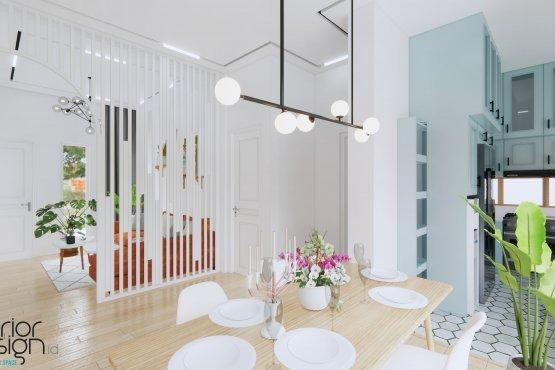ruang makan skandinavia