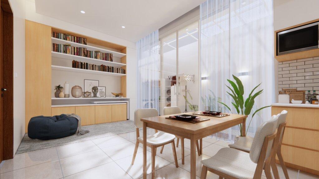 interior desain ruang baca minimalis