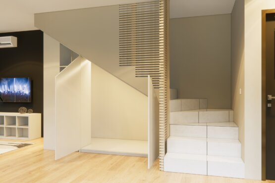 desain interior ruang keluarga kontemporer