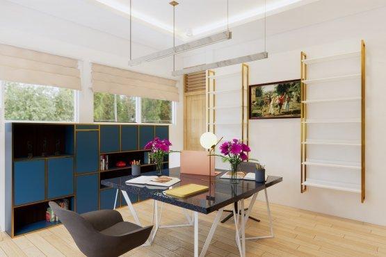 ruang kerja modern klasik