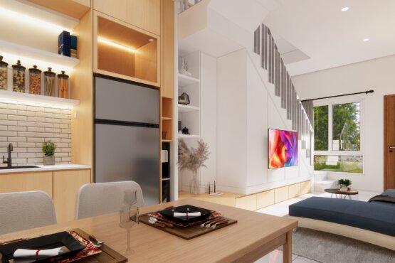 ide desain ruang makan minimalis