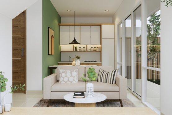 desain ruang tengah modern