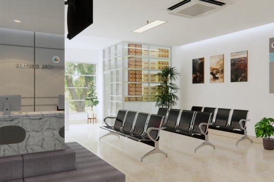 inspirasi interior klinik minimalis modern