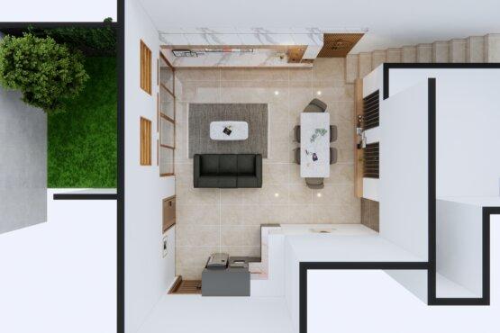interior ruang tengah minimalis