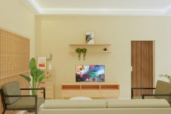 interior ruang keluarga scandinavian