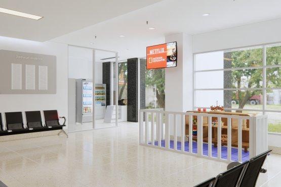 inspirasi desain interior klinik minimalis modern