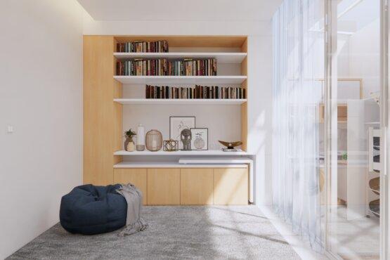 ruang baca minimalis