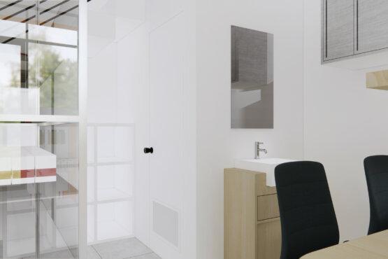 gambaran interior apotek minimalis