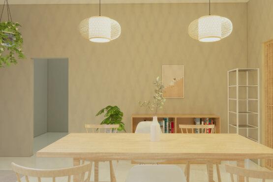 ruang makan scandinavian