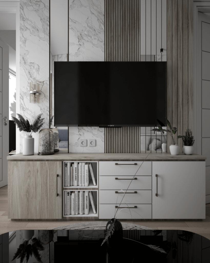 ruang tv apartemen minimalis modern