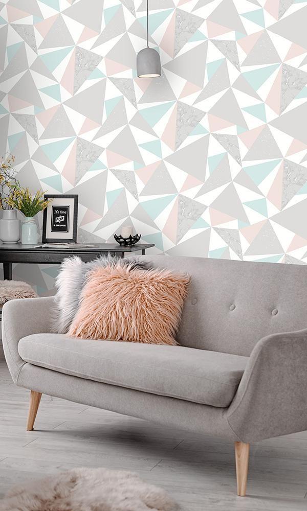 cara pasang wallpaper geometris